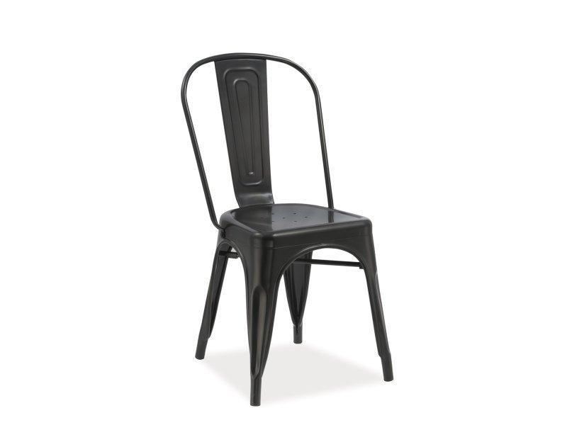 Krzesło LOFT czarny mat