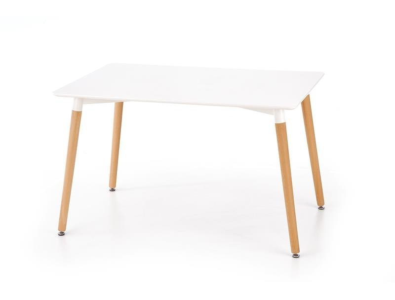 Stół SOCRATES prostokąt biały/buk