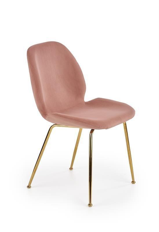 Krzesło K381 rożowo-złote