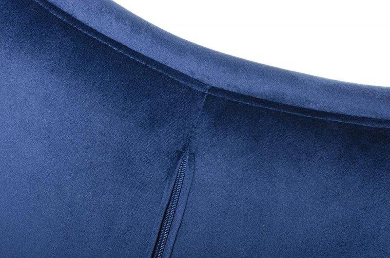 Fotel EGG SZEROKI VELVET ciemny niebieski