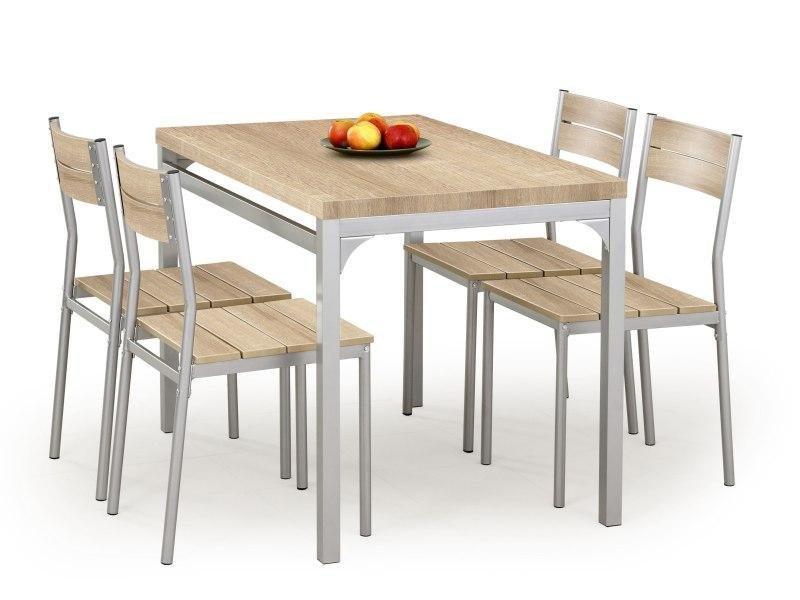 Zestaw MALCOLM stół + 4 krzesła dąb sonoma