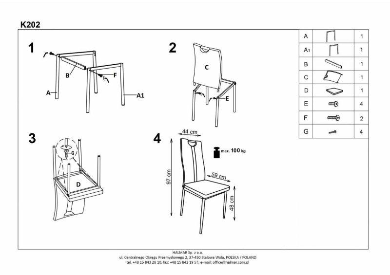 Krzesło K202 cappuccino