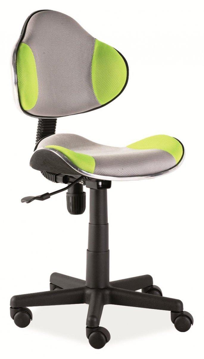 Fotel obrotowy Q-G2 zielono-szary