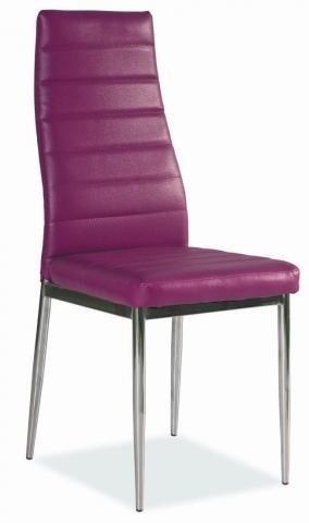 Krzesło H261 fioletowe/chrom
