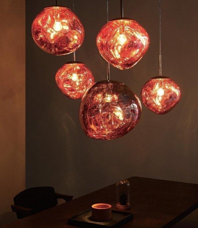 Lampa wisząca FUSION 20 miedziana/szkło