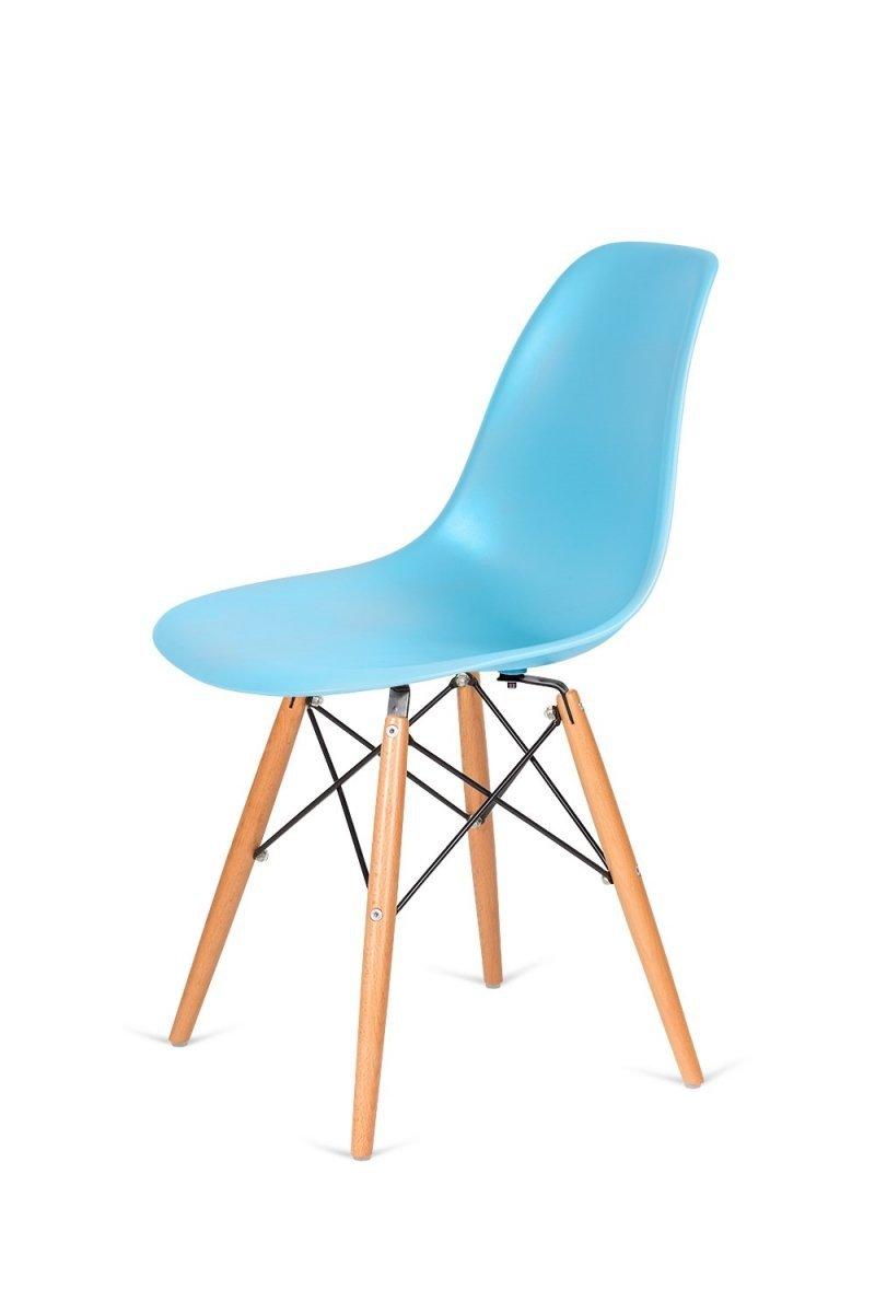 Krzesło DSW WOOD oceaniczny niebieski/buk