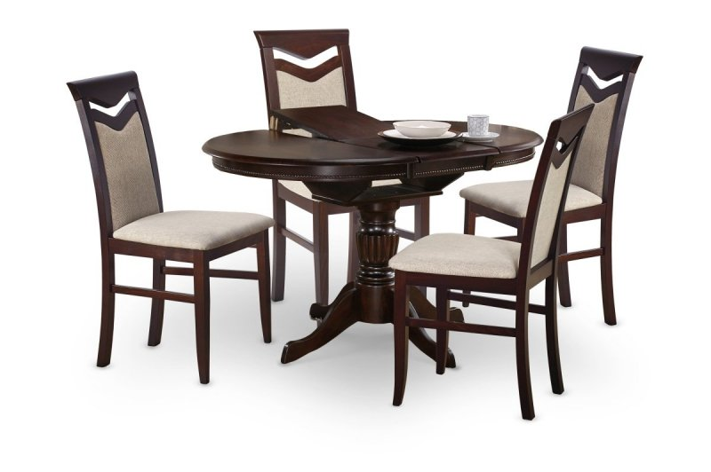 Stół rozkładany WILLIAM ciemny orzech
