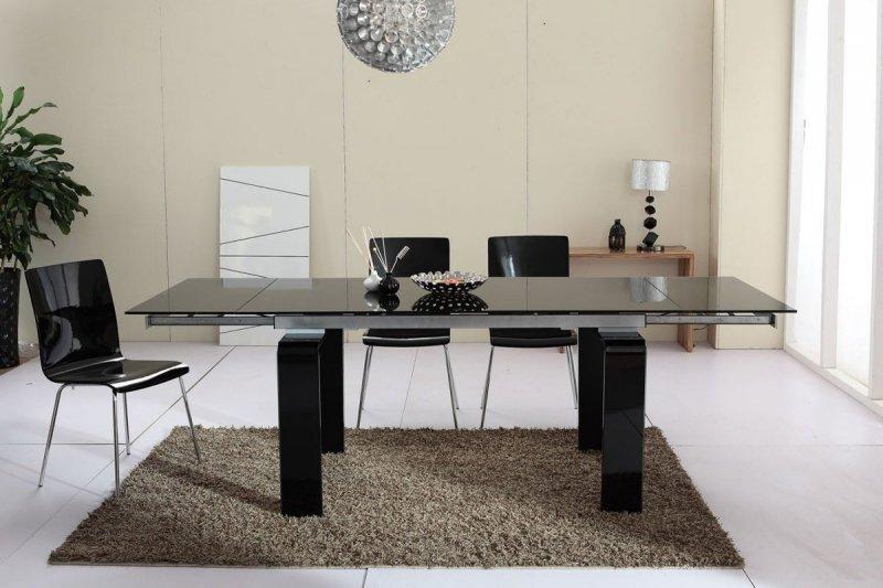 Stół rozkładany ATLANTIS BLACK 160/240