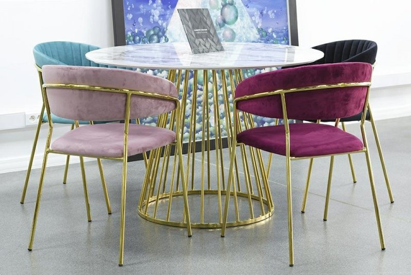 Krzesło MARGO burgund/złoty