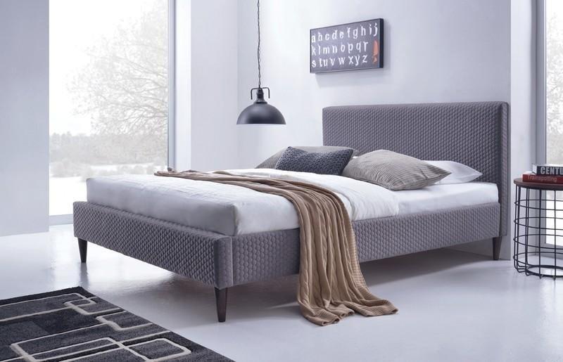 Łóżko tapicerowane FLEXY popielaty