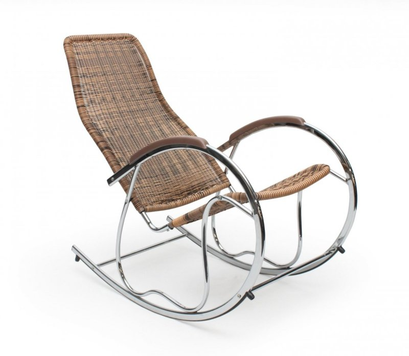 Fotel bujany BEN brązowy mix