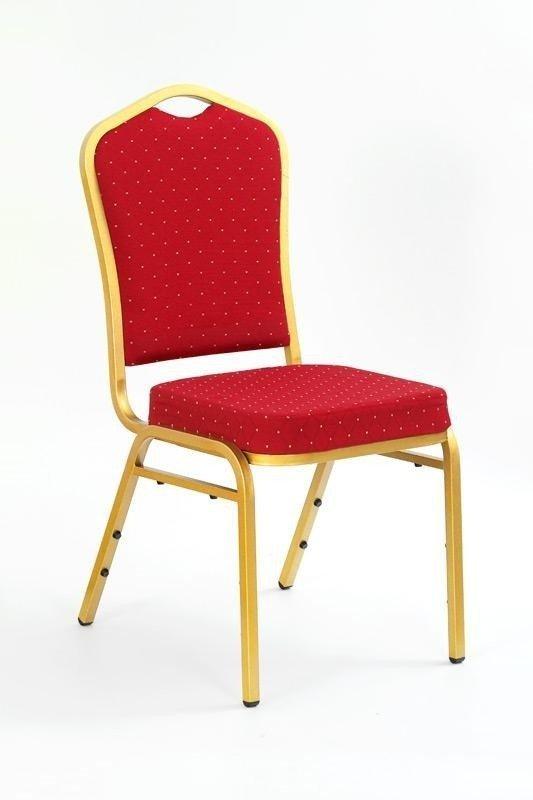 Krzesło K66 bordowy/złoty