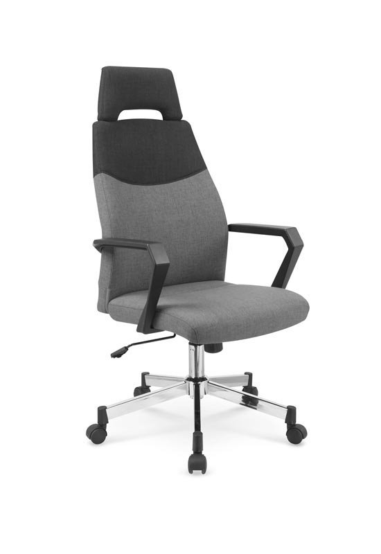 Fotel biurowy OLAF popielato-czarny