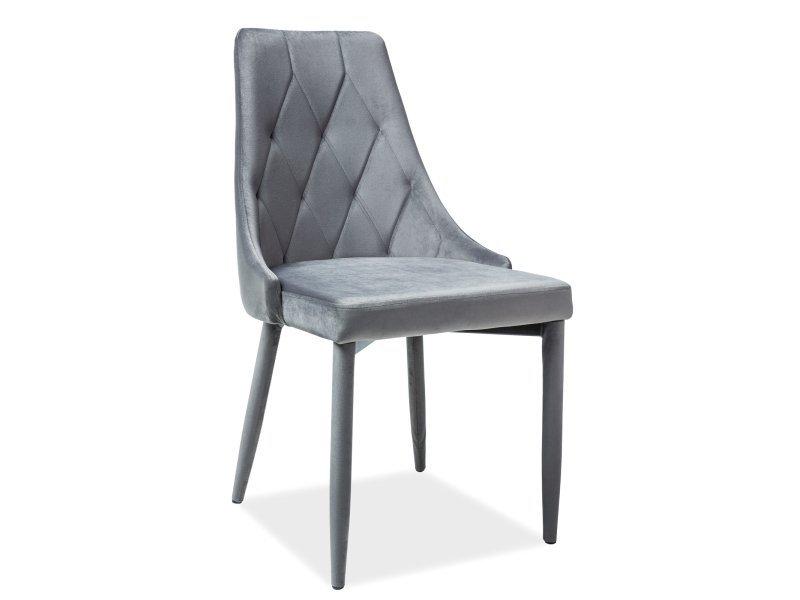 Krzesło TRIX VELVET szare