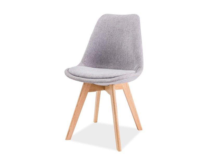 Krzesło DIOR buk-jasno szare