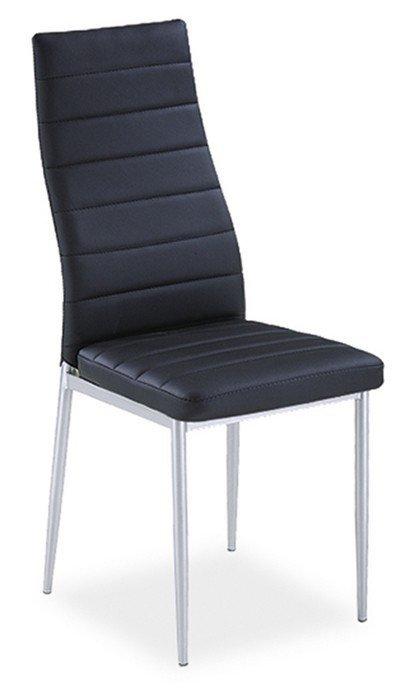 Krzesło H261 czarne/chrom