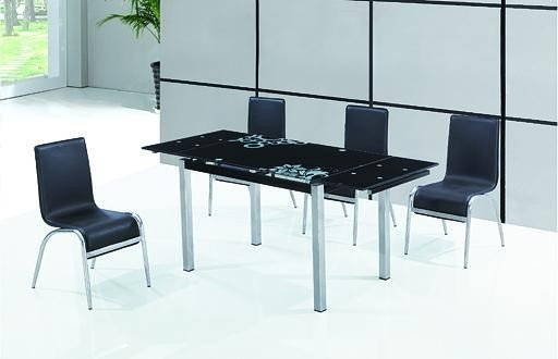 Stół rozkładany GD017 czarny/chrom