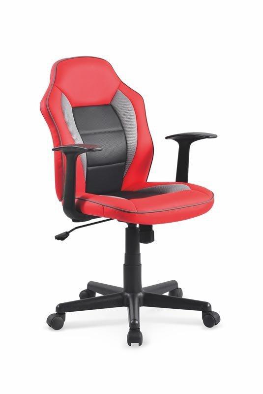 Fotel młodzieżowy NEMO czerwono-czarny