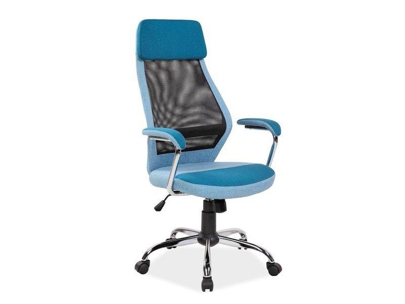 Fotel obrotowy Q336 niebieski