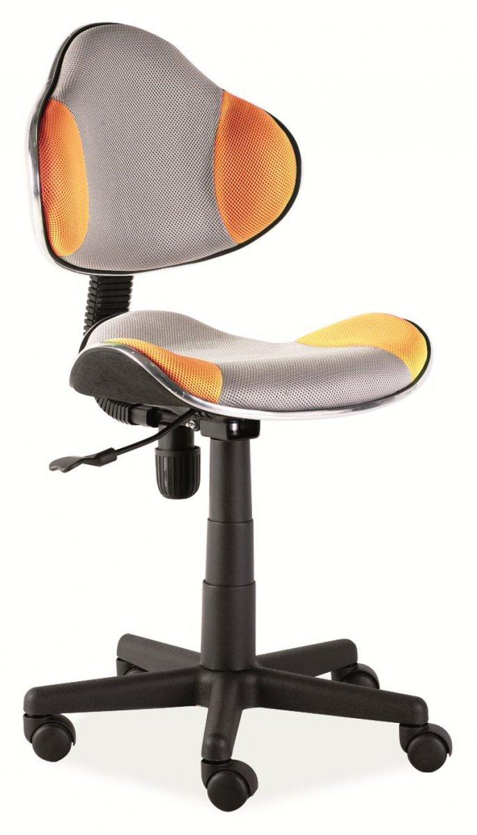 Fotel obrotowy Q-G2 pomarańczowo-szary