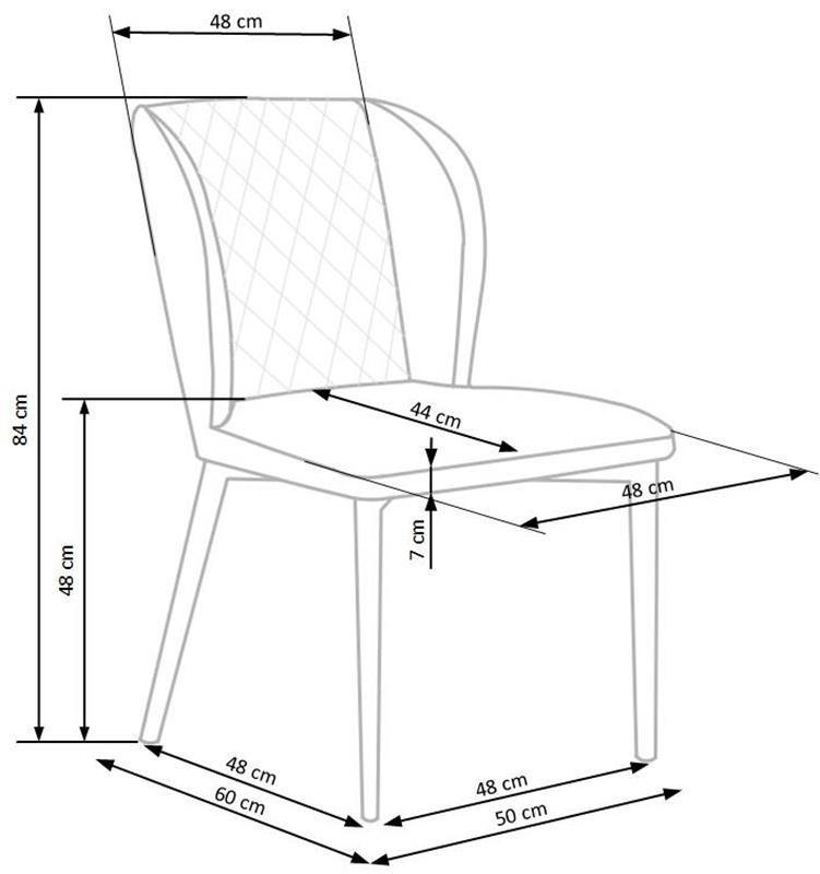 Krzesło K399 wymiary