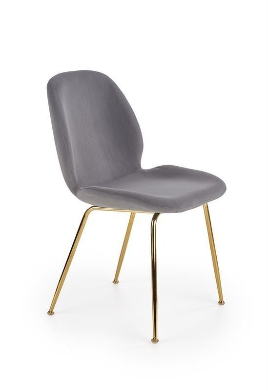 Krzesło K381 popielato-złote
