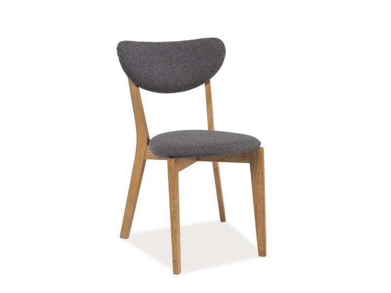 Krzesło ANDRE szare-dąb