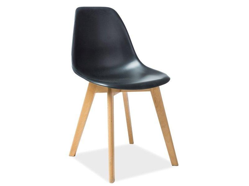 Krzesło MORIS buk/czarny