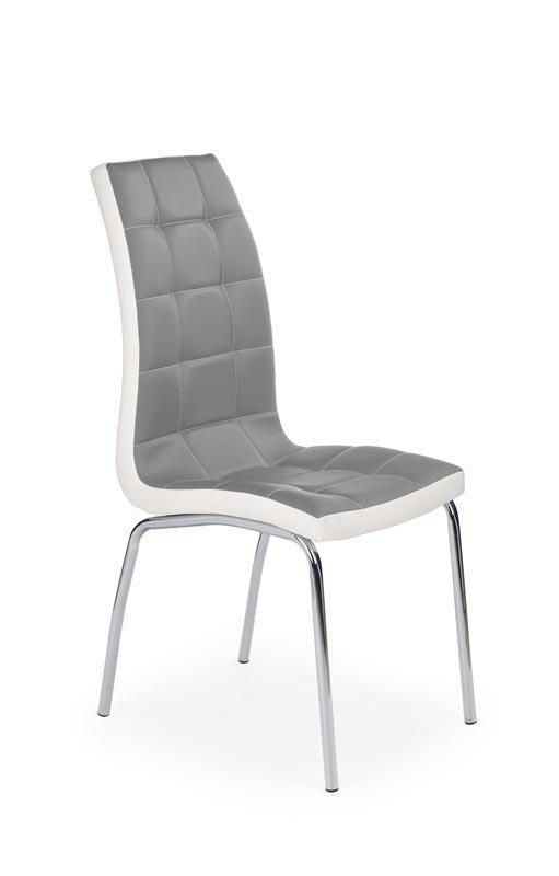 Krzesło K186 popielato-białe