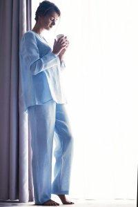 Piżama damska LUNULA r. S jasny błękit