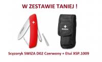 Scyzoryk SWIZA D02 Czerwony KNI.0020.1000 + Etui XSP.1009