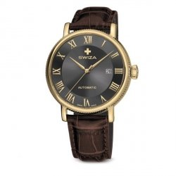 Zegarek SWIZA Alza AUTO RG grey-brown WAT.0156.1401