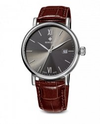 zegarek damski ALZA Gent,SST, anthracite, brown WAT.0141.1005