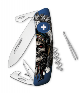 Scyzoryk SWIZA HALLOWEEN D03 Indian Skull KNB.0030.H014