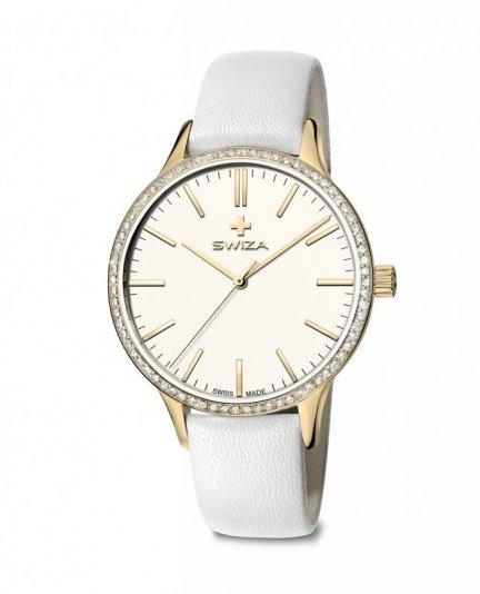 zegarek damski STELLA, YG, white, white WAT.0631.1301