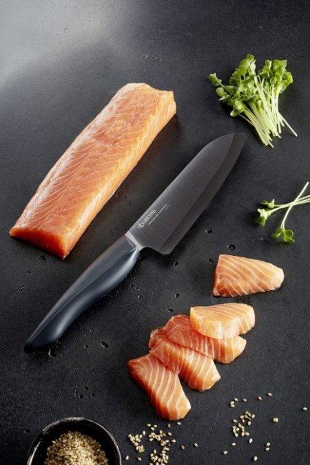 KYO - Nóż Santoku 14 cm Shin Black