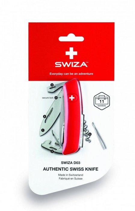 Scyzoryk SWIZA C04 Silva KNI.0040.2051 blister GRAWER NA OSTRZU GRATIS !