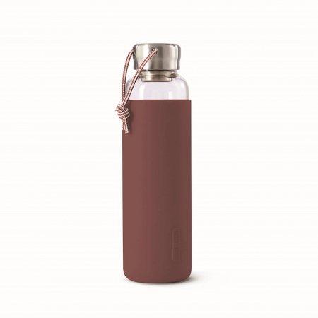 BB - Butelka szklana na wodę 600ml, burgundowa