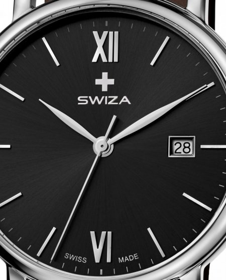 zegarek damski ALZA Gent, SST, black, brown WAT.0141.1007