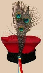 Czapka krakowska chłopięca - 3 pawie pióra