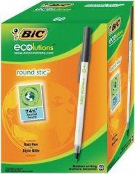 Długopis BIC Round Stic Czarny Pudełko 60 (dlk4310)