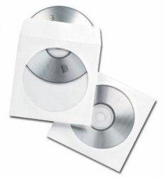 Koperty NC samoklejące CD SK białe 90g, okno okrągłe 1000szt. (kpk0730)