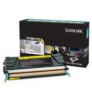 Kaseta z tonerem Lexmark do X748 | zwrotny | 10 000 str. | yellow
