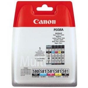 Tusz Canon PGI-580PGBK/CLI-581 Pixma TR8550 |1 x 11,2ml + 4 x 5,6ml CMYK + PGBK