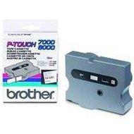 Taśma Brother laminowana  24mm x 8m czarny nadruk / białe tło