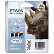 Zestaw tuszy  Epson T1006  do  SX-510W/515W/600FW | 33,3ml | CMY