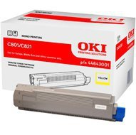 Toner Oki do C-801/821 | 7 300 str. | yellow