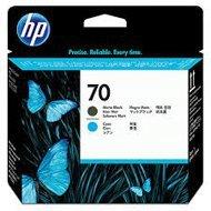 Głowica HP 70 do Photosmart B8850/9180, Designjet Z2100 | matte black + cyan