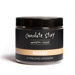 Migdały w mlecznej czekoladzie 44% - 120g