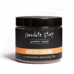 Orzech laskowy w deserowej czekoladzie 70% - 120g